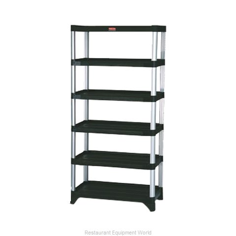Rubbermaid FG9T4000BLA Shelving Unit, Plastic with Metal Post (Magnified)