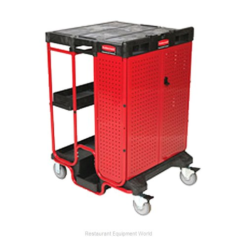 Rubbermaid FG9T5800BLA Cart, Ladder (Magnified)