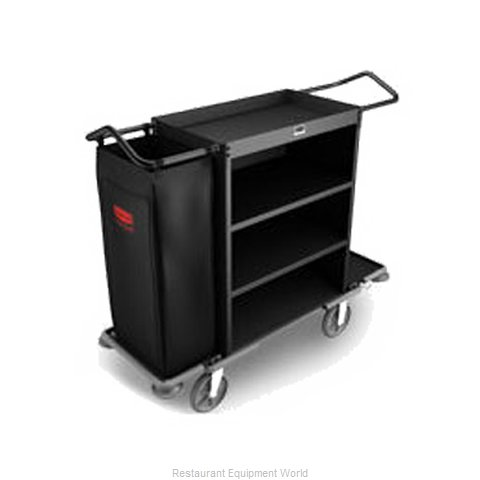 Rubbermaid FG9T5900BLA Housekeeping Cart
