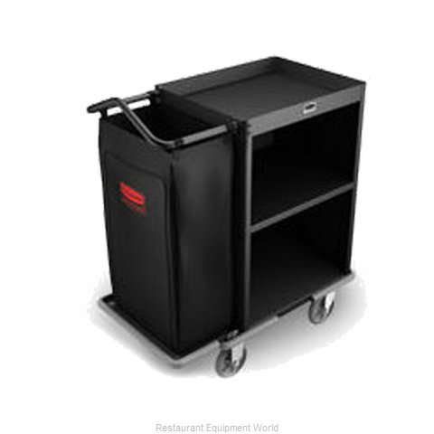 Rubbermaid FG9T6000BLA Housekeeping Cart
