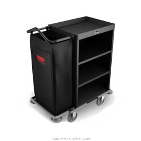 Rubbermaid FG9T6100BLA Housekeeping Cart