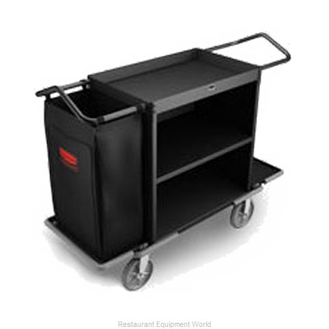 Rubbermaid FG9T6200BLA Housekeeping Cart