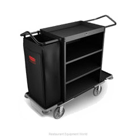 Rubbermaid FG9T6300BLA Housekeeping Cart (Magnified)
