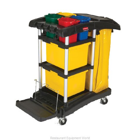 Rubbermaid FG9T7400BLA Janitor Cart