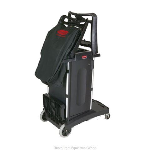 Rubbermaid FG9T7600BLA Housekeeping Cart (Magnified)