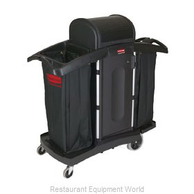 Rubbermaid FG9T7800BLA Cart, Housekeeping