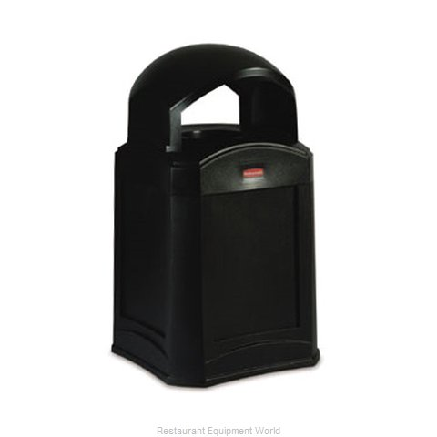 Rubbermaid FG9W0100BLA Trash Receptacle, Outdoor/Indoor (Magnified)