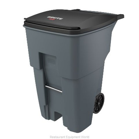Rubbermaid FG9W2200GRAY Trash Receptacle, Mobile