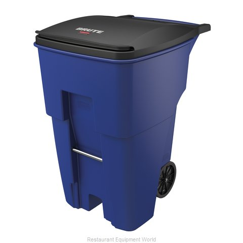 Rubbermaid FG9W2273BLUE Trash Garbage Waste Container Mobile