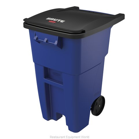 Rubbermaid FG9W2700BLUE Trash Receptacle, Mobile