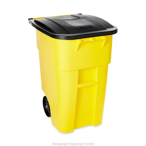 Rubbermaid FG9W2700YEL Trash Receptacle, Mobile