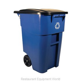 Rubbermaid FG9W2773BLUE Waste Receptacle Recycle