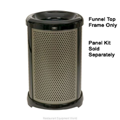 Rubbermaid FG9W5400SILV Waste Basket Metal