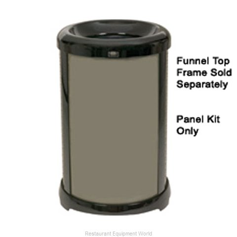 Rubbermaid FG9W5900BRNZ Waste Basket Metal