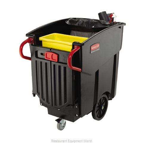 Rubbermaid FG9W7100BLA Trash Garbage Waste Container Mobile