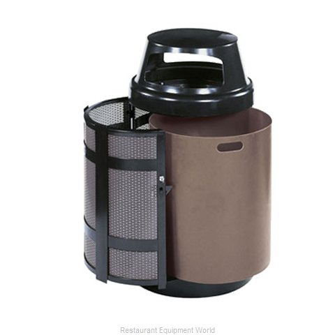 Rubbermaid FGA38SDABZPL Waste Receptacle Outdoor (Magnified)