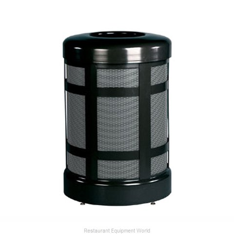 Rubbermaid FGA38TSDBKPL Waste Receptacle Outdoor (Magnified)