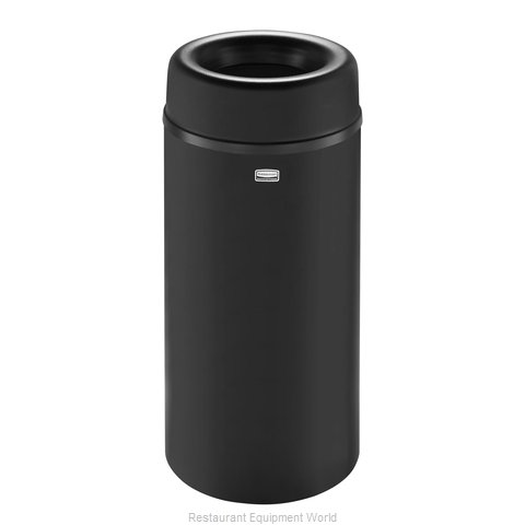 Rubbermaid FGAOT15BKPL Trash Garbage Waste Container Stationary