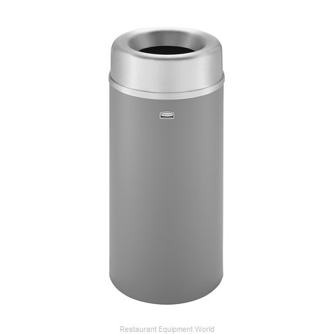 Rubbermaid FGAOT15SAGRPL Trash Garbage Waste Container Stationary