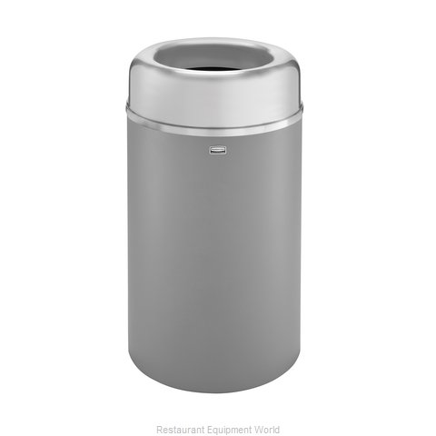 Rubbermaid FGAOT30SAGRPL Trash Receptacle, Indoor (Magnified)
