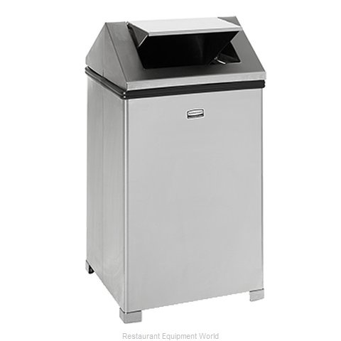 Rubbermaid FGB1414SSRB Trash Garbage Waste Container Stationary