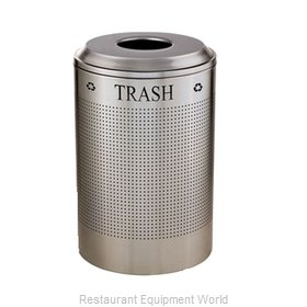 SpecialMade FGDRR24TSS Round Recycling Receptacle
