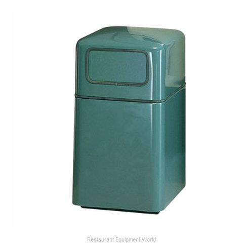 Rubbermaid FGFG2038SQDRPLBK Trash Garbage Waste Container Stationary (Magnified)
