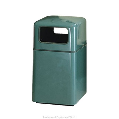 Rubbermaid FGFG2038SQPLDBN Waste Receptacle Outdoor (Magnified)