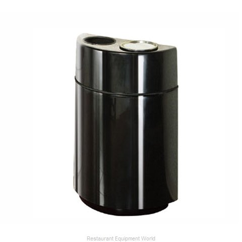 Rubbermaid FGFGH2436SUTPLBK Ash Tray Top Sand Urn Trash Can Base (Magnified)