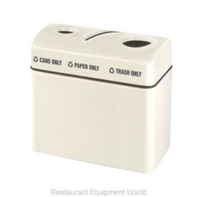 Rubbermaid FGFGR3616TPCPLWH Recycling Receptacle / Container