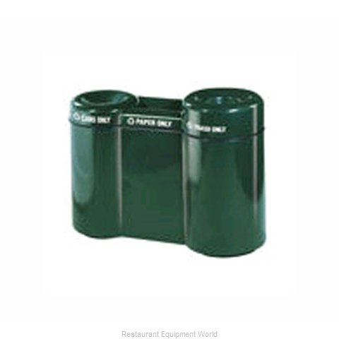 Rubbermaid FGFGR5220PLBK Waste Receptacle Recycle