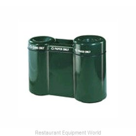 Rubbermaid FGFGR5220PLWMB Waste Receptacle Recycle