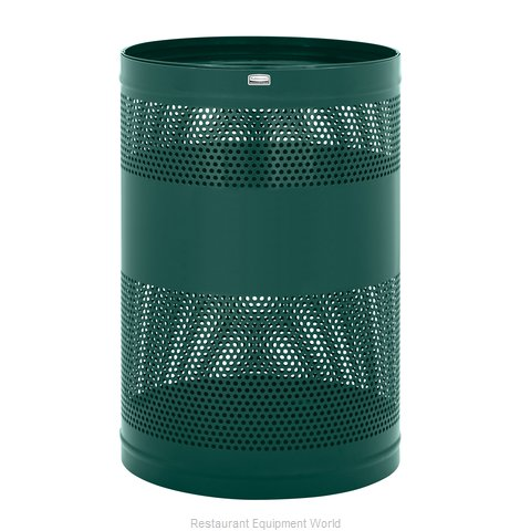 Rubbermaid FGH55EEGN Trash Receptacle, Outdoor/Indoor