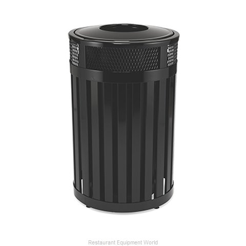 Rubbermaid FGMH24PLBK Waste Receptacle Outdoor