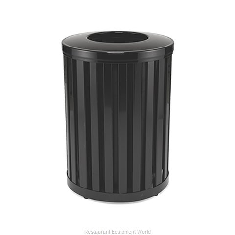 Rubbermaid FGMH32PLBK Waste Receptacle Outdoor