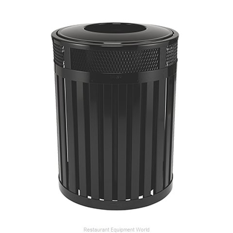 Rubbermaid FGMH46PLBK Waste Receptacle Outdoor