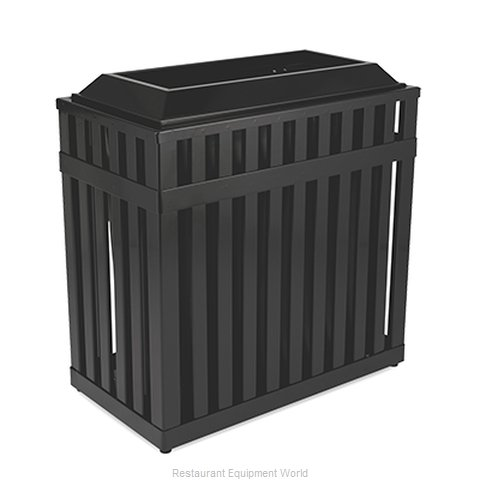 Rubbermaid FGMHR36PLBK Waste Receptacle Outdoor