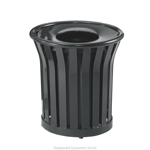 Rubbermaid FGMT22PLBK Waste Receptacle Outdoor (Magnified)