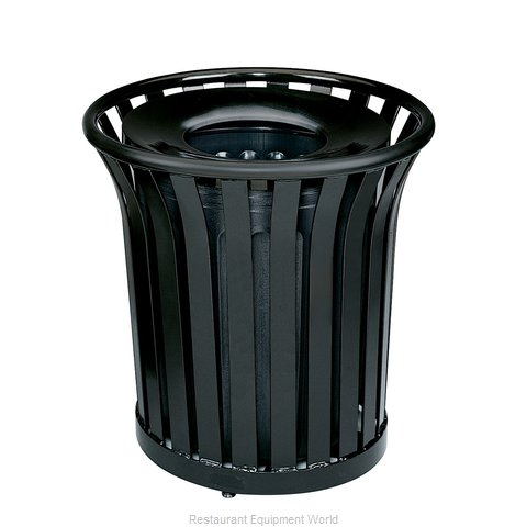 Rubbermaid FGMT32PLBK Trash Receptacle, Outdoor/Indoor