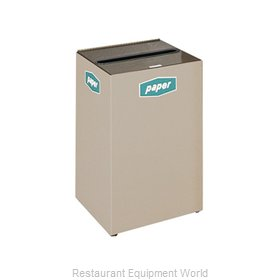 Rubbermaid FGNC24W1 Waste Receptacle Recycle