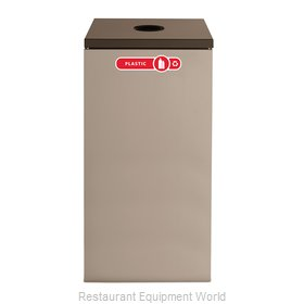 Rubbermaid FGNC30C3 Recycling Receptacle / Container
