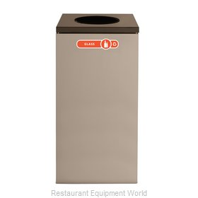 Rubbermaid FGNC30W1 Waste Receptacle Recycle