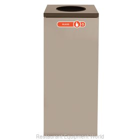 Rubbermaid FGNC36W1 Waste Receptacle Recycle