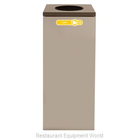 Rubbermaid FGNC36W2 Recycling Receptacle / Container