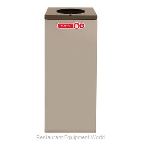 Rubbermaid FGNC36W3L Waste Receptacle Recycle