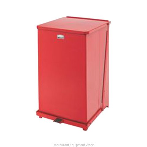 Rubbermaid FGQST40ERBRD Waste Basket, Metal