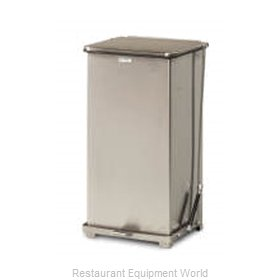 Rubbermaid FGQST40SSPL Waste Basket, Metal