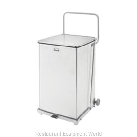 Rubbermaid FGQST40SWRB Waste Basket, Metal