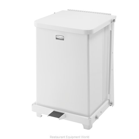 Rubbermaid FGQST7ERBWH Waste Basket, Metal