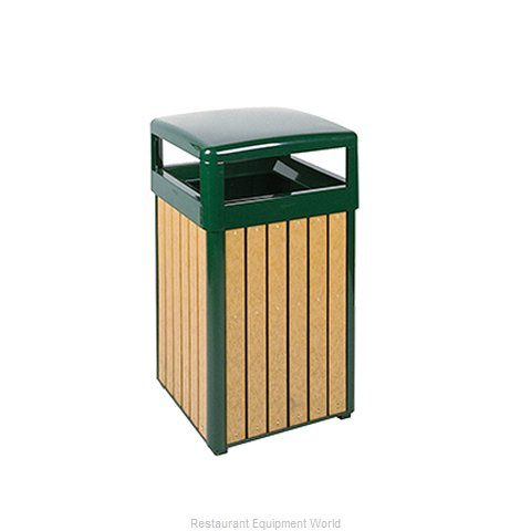 Rubbermaid FGR34HT50PLEGN Waste Receptacle Outdoor (Magnified)